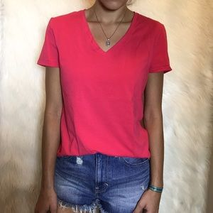 Lord & Taylor Tops - Lord and Taylor Pink V-Neck
