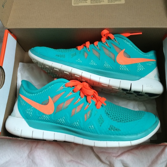 Nike Free 5.0 Teal And Orange