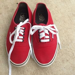"Classic Red Vans ""Off The Wall"""