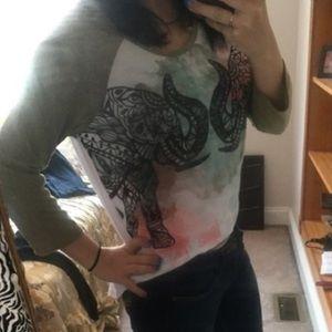 High low elephant shirt