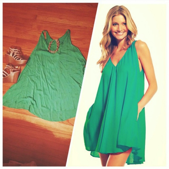 11% off umgee Dresses & Skirts - Green shift dress from Jordan's ...