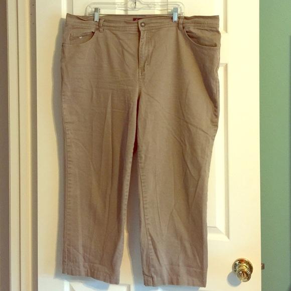 Gloria Vanderbilt Denim - Gloria Vanderbilt Khaki Denim Jeans plus stretch