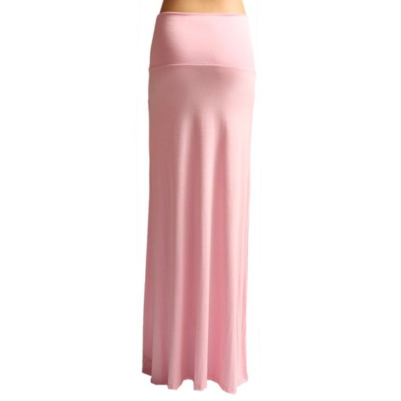 new maxi skirt dress in light pink from s