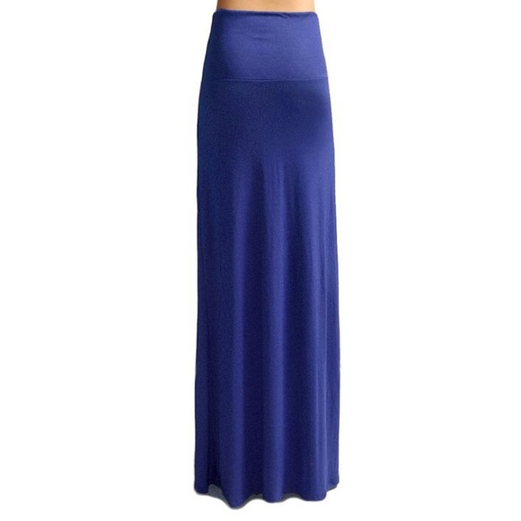 new maxi skirt dress in royal blue from s