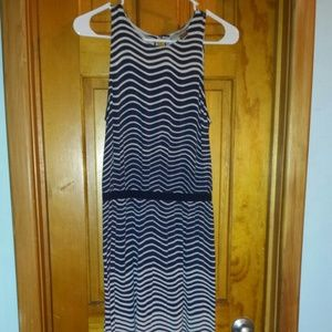 Navy and white stripes dress