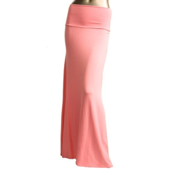 new maxi skirt dress in pastel coral l from