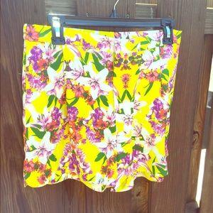 High waisted yellow floral shorts - Joe Fresh - 6