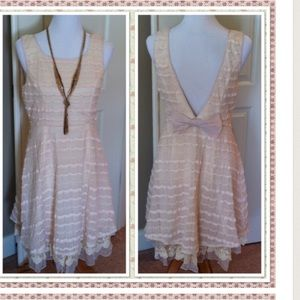 A'reve Dresses & Skirts - CREAM SLEEVELESS LOW BACK DRESS