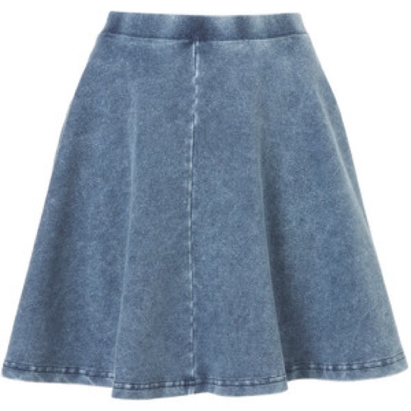 38% off Topshop Dresses & Skirts - Top shop acid denim circle ...