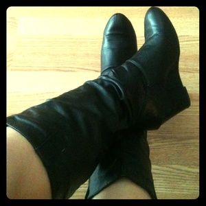 Swift Boots - Knee High Wedge Boots 7.5