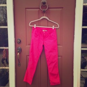 Juicy Couture Pants - Juicy Couture SKINNY PINK CROP PANTS