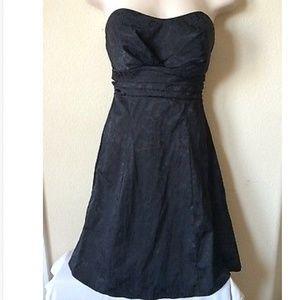 Ruby Rox Black Strapless Paisley Dress Size 5