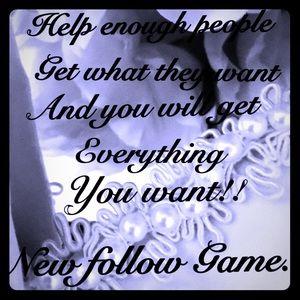 New Follow Game! Please help me reach 50K