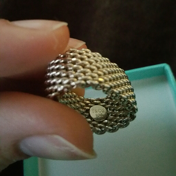 abb00f468ee Authentic Tiffany and Co ring somerset mesh. M 55529600d14d7b1e2f002623