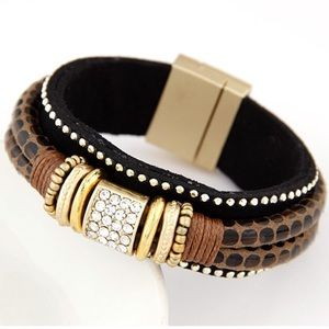 Fashion Jewelry Jewelry - Brown Magnetic Clasp Bracelet
