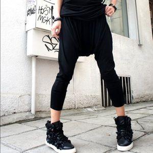 Drop-Crotch Sweat Pants