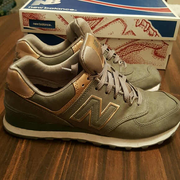 new balance womens 574 metallic