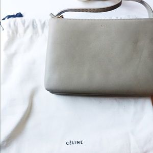 52% off Celine Handbags - Celine soft trio roll clutch runway in ...