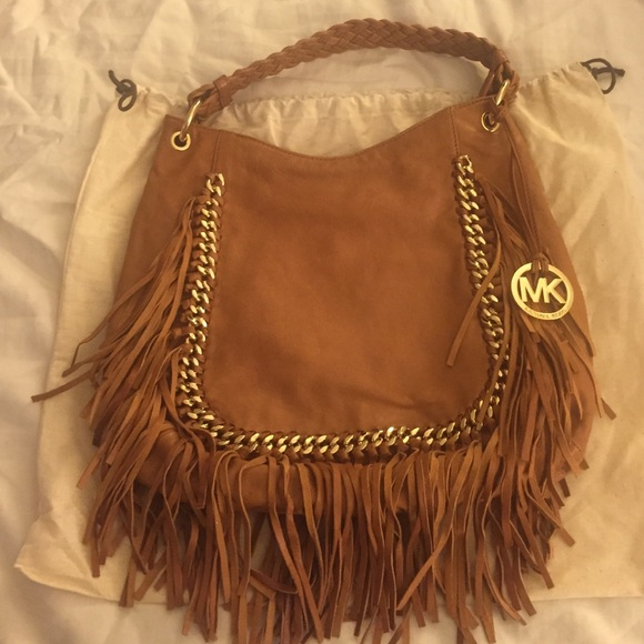 72% off Michael Kors Handbags - NWOT Michael Kors Fringe Hobo Bag ...