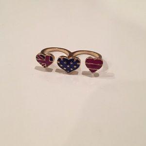 New ASOS double finger ring Sz. 7