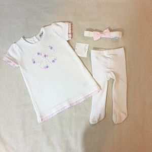 Other - NWT Set of Knitted Baby Girl Dress and Headband