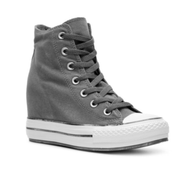 Converse All Stars Hidden Wedge gray sneakers 8ec78a32a