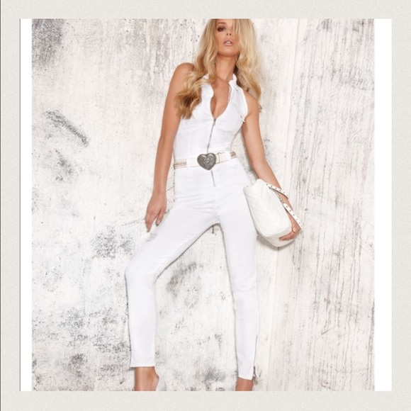 3251be7b3aa Guess Pants - 🔺GUESS🔺White Denim Jumpsuit