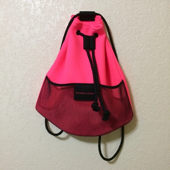 Victoria's Secret - Neon Pink Neoprene Mesh Tote Beach Bag ...