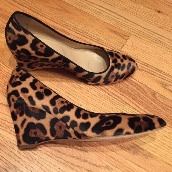 6138cb67974 Jcrew Collection Martina leopard calf hair wedges