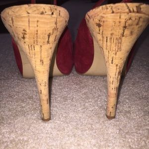 Guess Shoes - Guess red peep toe heels