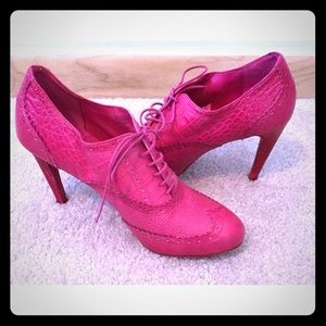 2x Host PickFushsia Washed Oxford Pink Pump