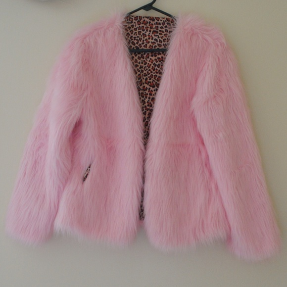 Jackets & Blazers - ***SOLD*** FLUFFY PINK BABYGIRL JACKET