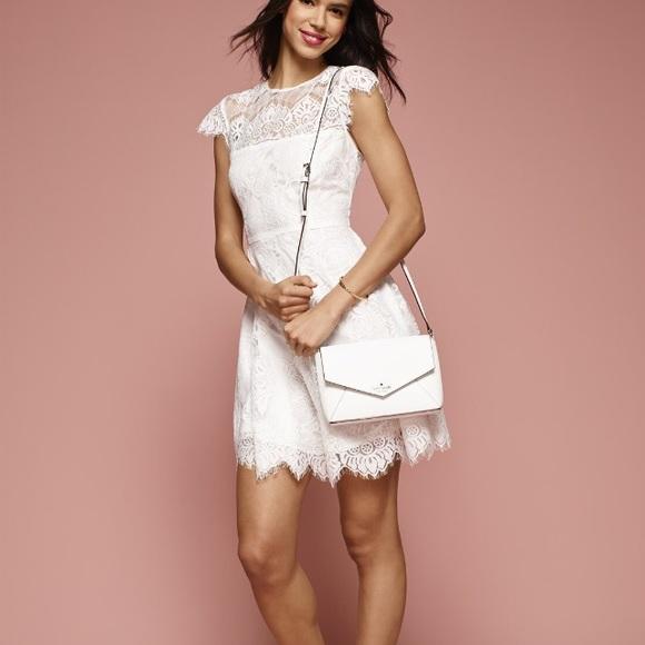 75% off BB Dakota Dresses &amp- Skirts - Bb Dakota white lace dress sz ...