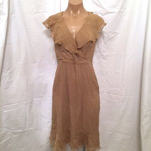 Betsey Johnson vintage silk polka dot dress sz 2