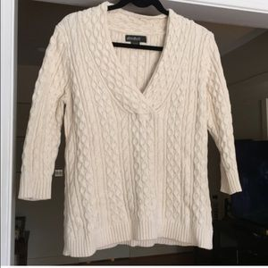Eddie Bauer cream knit sweater