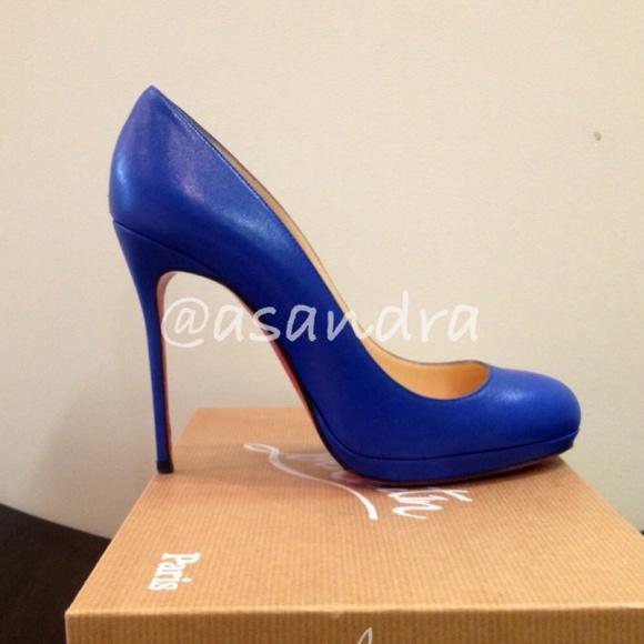 0354a4e7f54f Christian Louboutin Shoes - CL Filo 120mm Bleu Saphir