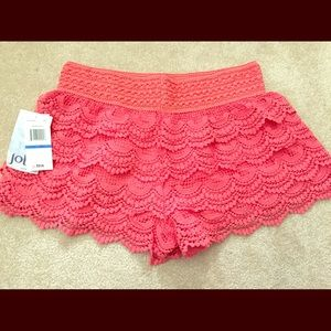 Jolt Dresses & Skirts - Coral Lace shorts