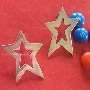 Vintage Taxco Sterling Silver .925 Star Earrings