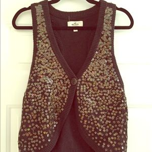 Hollister Jackets & Blazers - Sequin Vest