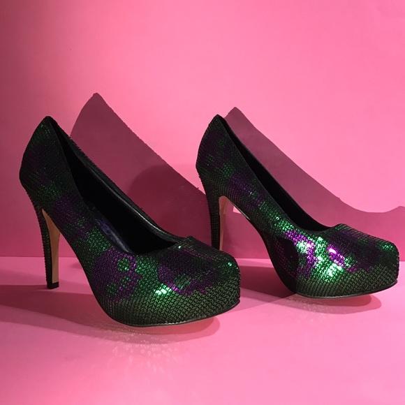 50% off Iron Fist Shoes - Iron Fist 10 Digi Skull Purple Green ...