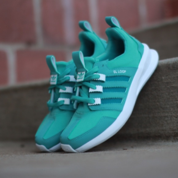 c4ddce4f0588 Adidas Shoes - Adidas Turquoise SL Loop Runners