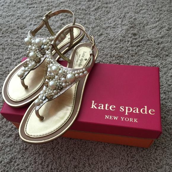 acd2a479e0d kate spade Shoes - Kate Spade pearl Imani sandals