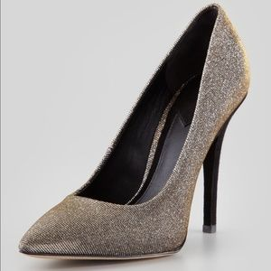 B Brian Atwood  Desire Sparkly Suede Heels