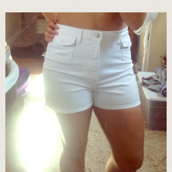 40% off Pants - For Curvy Girls: Classic White High Waisted Shorts ...
