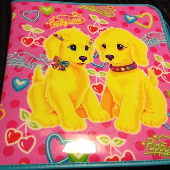 Lisa Frank Puppy Love Binder Vintage Rare 90s