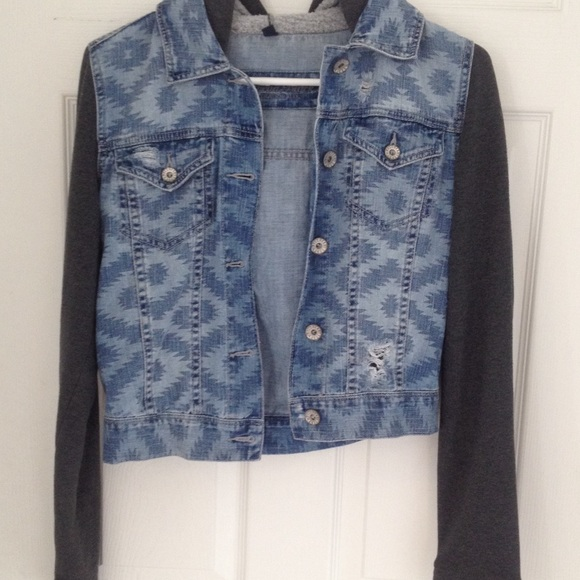 Half Denim Half Cotton Jacket - JacketIn