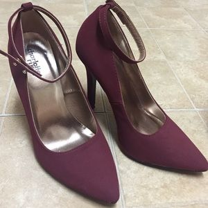 Charlotte Russe pointy pumps with ankle straps