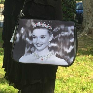 Audrey Hepburn Handbag with Crystal Accents NWT