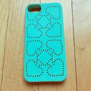 Kate spade mint/Tiffany blue silicone case iphone5