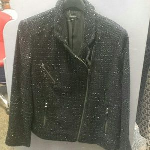 I <3 Ronson Motorcycle Diagonal Zip Tweed jacket